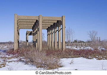Abandoned Ordnance Manufacturing Plant - Abandoned facility...