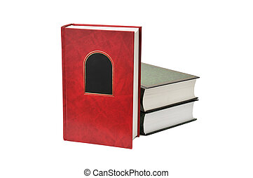 books isolated on a white background...