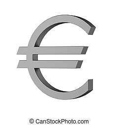 3d render of euro sign