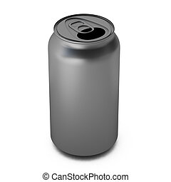 3d render of aluminium can
