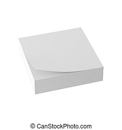 3d render of paper note
