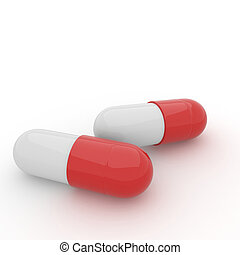 3d render of pills