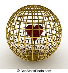 3d render of heart