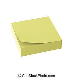 3d render of paper note