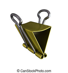 3d render of gold clamp on white