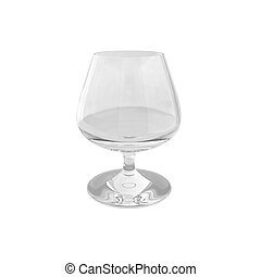 3d render of cognac glass on white