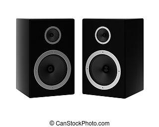 3d render of two speakers