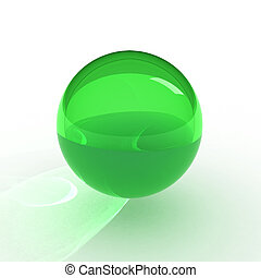 3d render of green ball