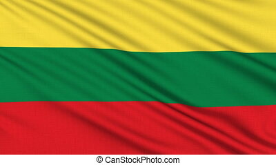 Lithuanian flag, with real structure of a fabric