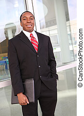 African American Business Man - Handsome young african...