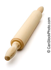 Rolling pin, beater, isolated on a white background