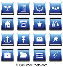 business and office icon set - Business and office set of...