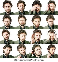 Facial expressions - An image of a set of facial expressions