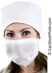 Nurse in cap