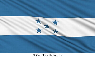 Honduras flag, with real structure of a fabric
