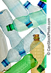 empty used trash bottle ecology environment - close up of...