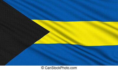 Bahamian flag, with real structure of a fabric