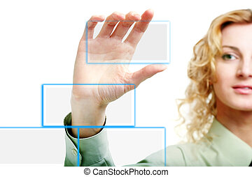 Hand - An image of a hand holding clear card