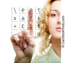 Calculation - An image of a woman calculating