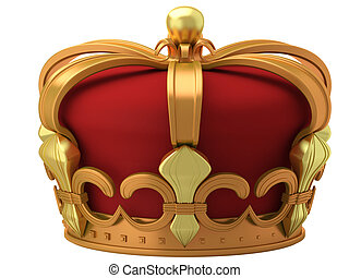 gold crown - Royal gold crown isolated on a white background