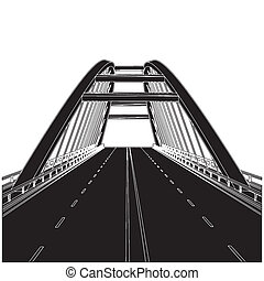 Road The Bridge Vector