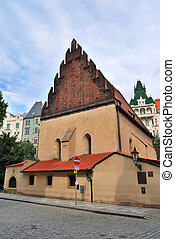 Prague. Old-new synagogue - Prague, Czech Republic . Old-new...