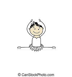 Cute little ballet dancer for your design
