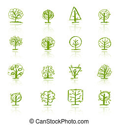 Set of sketch trees for your design
