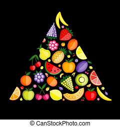 Fruit pyramid for your design