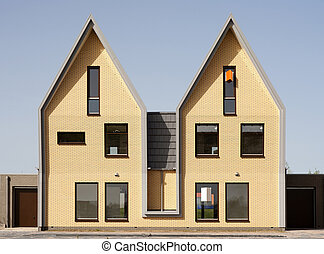 Housing development in Vathorst, Amersfoort, the Netherlands...