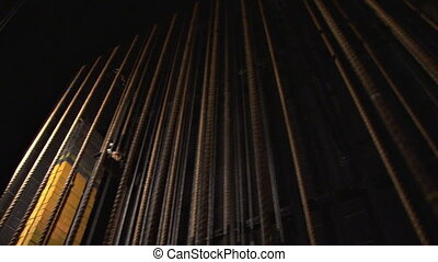 Theatre Ropes 1 - A system of ropes and pulleys used to...