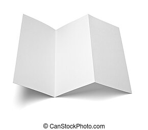 leaflet white blank paper template - close up of a leaflet...