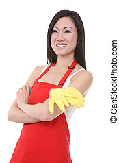 Asian Woman Maid