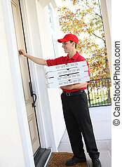 Pizza Delivery Man - A handsome young pizza delivery man...
