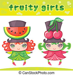 Fruity girls series 5: watermelon, cherry