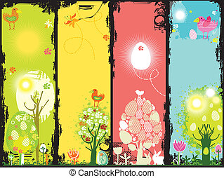 Vertical Easter banners
