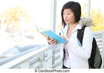 Young Asian Girl at School