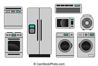 Home appliances - An illustration of different home...