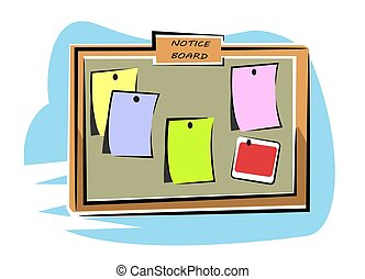 Notice board - An illustration of colorful notice board...