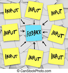 Input and Feedback - Sticky Note Message Board - The words...