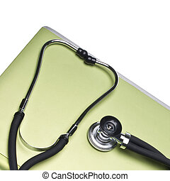 Medical Records Conceptual Image with Stethoscope Border...