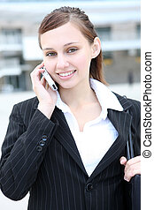 Cute Business Woman on Phone