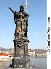 Saint John Baptist Charles Bridge - the Statue of Saints...