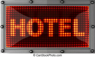 hotel  announcement on the LED display