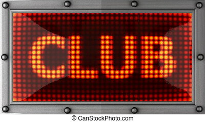 club announcement on the LED display