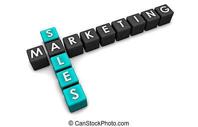 Sales and Marketing Concept in 3d Format