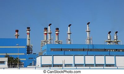 Power station - Chimneys of a modern power station