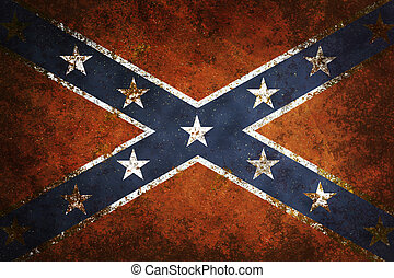 Vintage Confederate Flag - Vintage close-up of Confederate...