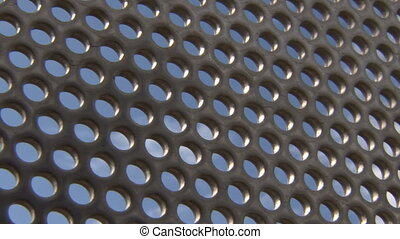 Stainless Holes Grid Sky - A holy ahem stainless steel mesh,...