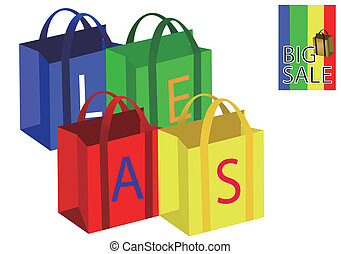 Colorful sale bags
